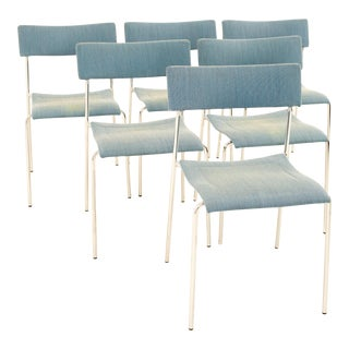 Johannes Foersom for Lammhults Mid-Century Campus Stackable Dining Chairs - Set of 6 For Sale