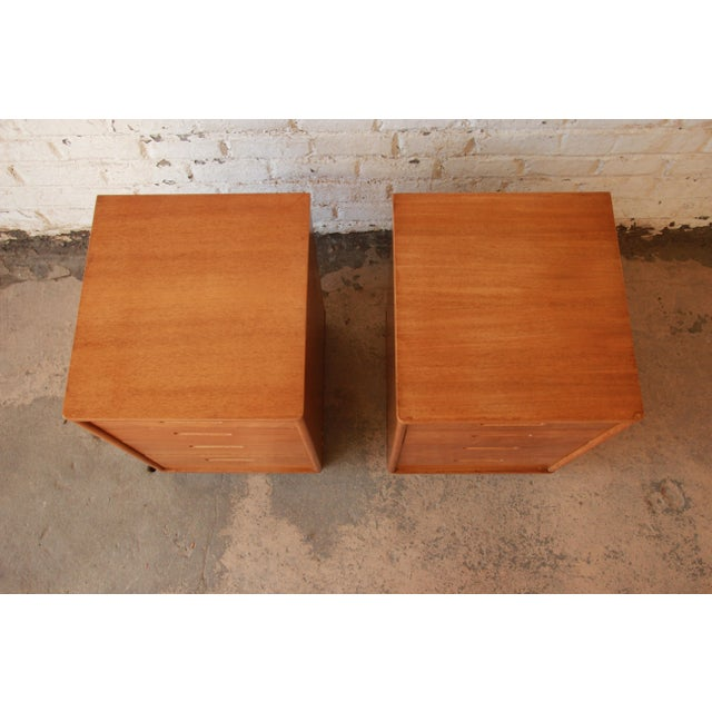 Mid 20th Century Edward Wormley for Dunbar Mid-Century Nightstands - a Pair For Sale - Image 5 of 11