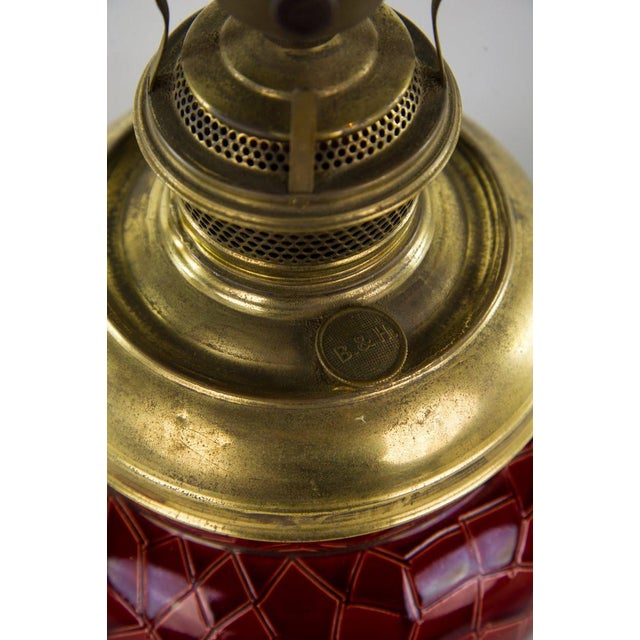 Late 19th Century 19th C. Victorian Style Bradley & Hubbard Converted Oil Lamp For Sale - Image 5 of 12
