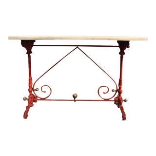 Early 19th Century French Original Marble Top Painted Pastry Table For Sale