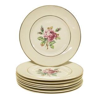 Garden Rose China Plates, S/8