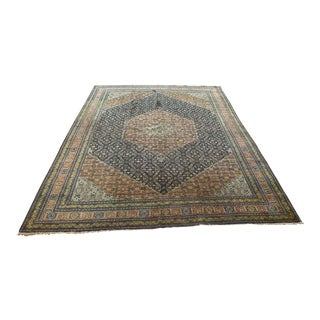 Early 20th Century Antique Persian Tabriz Rug - 9′5″ × 14′ For Sale