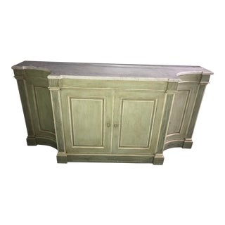 Louis XVI Style Sideboard With Carrara Marble Top For Sale