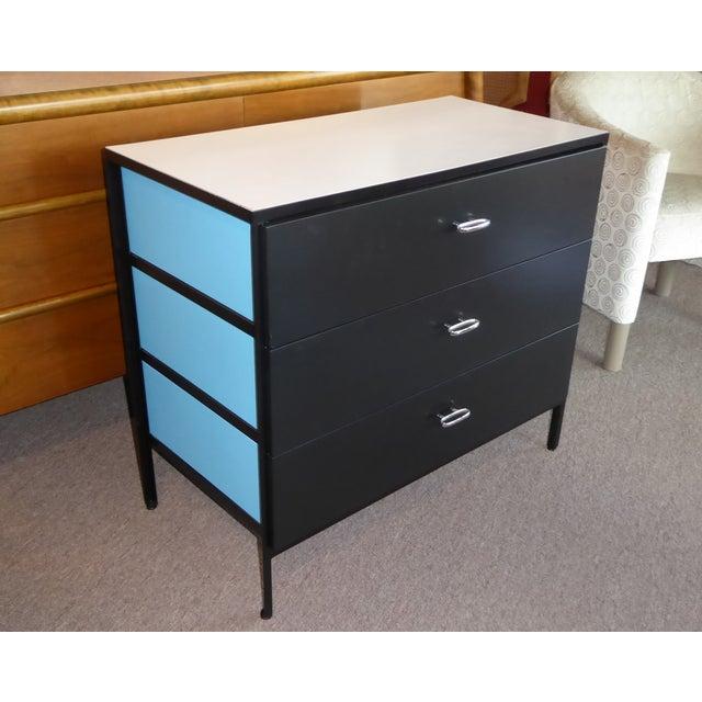George Nelson Mid-Century Modern Steel Frame Blue and Black Dresser for Herman Miller, 1960s For Sale - Image 13 of 13