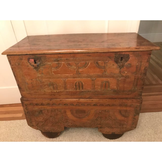 Boho Chic Antique Indonesian Gerobok Chest For Sale - Image 3 of 11
