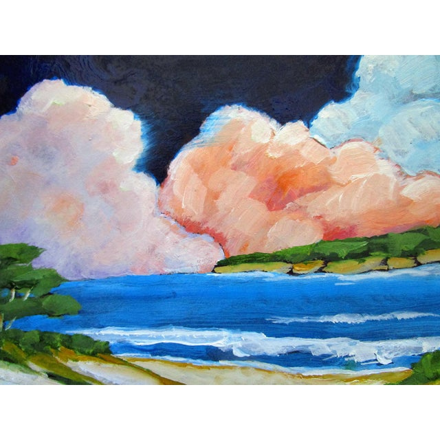 2020s Carmel California Monterey Bay Clouds Landscape Oil Painting Lynne French Art For Sale - Image 5 of 7