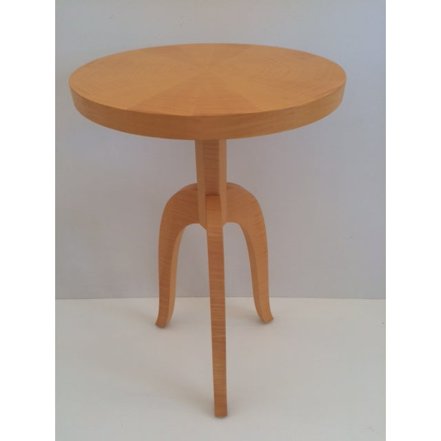Todd Hase Sycamore Marquetry Gueridon Table For Sale - Image 10 of 10