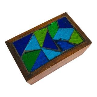 Georges Briard Lidded Smoking Box Trinket Box Cigarette Mosaic Box For Sale