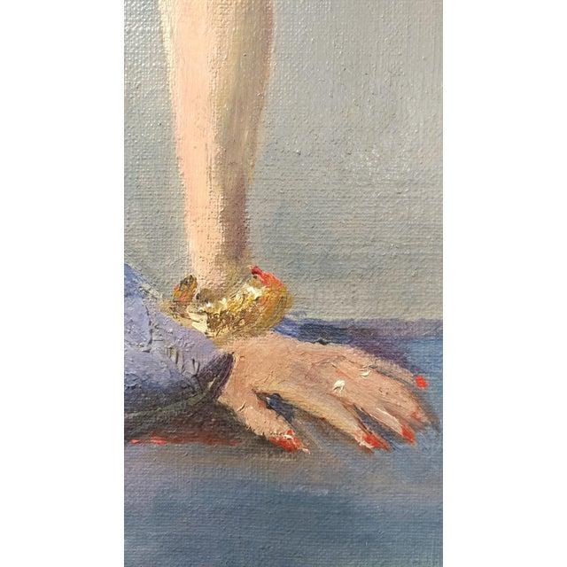 Oil Paint Ismael De La Serna - Mujer Desnuda Mid-Century Oil Painting For Sale - Image 7 of 10