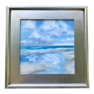 Contemporary Original Oil Painting of Sand and Blue Sky For Sale
