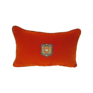 The Royal Hunt Signature Velvet Lumbar Pillow