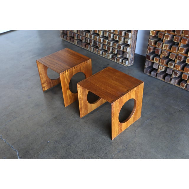 1960s 1960s Peter Hvidt for Richard Nissen Cube Nesting Tables - a Pair For Sale - Image 5 of 12