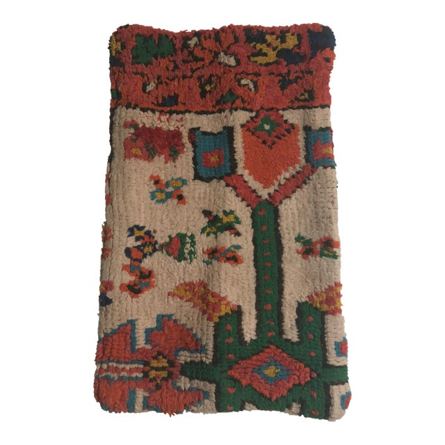Stuffed Vintage 100% Moroccan Rug Wool Pillow Made in Marrakesh - Image 1 of 11