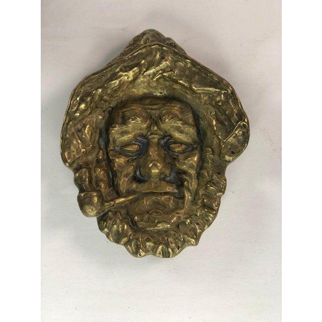 "Mid-Century Brass Sailor Tray | 6.5"" x 5"" | Vintage Nautical Captain Brass Dish | Boho Vintage Decor Minor patina as seen..."