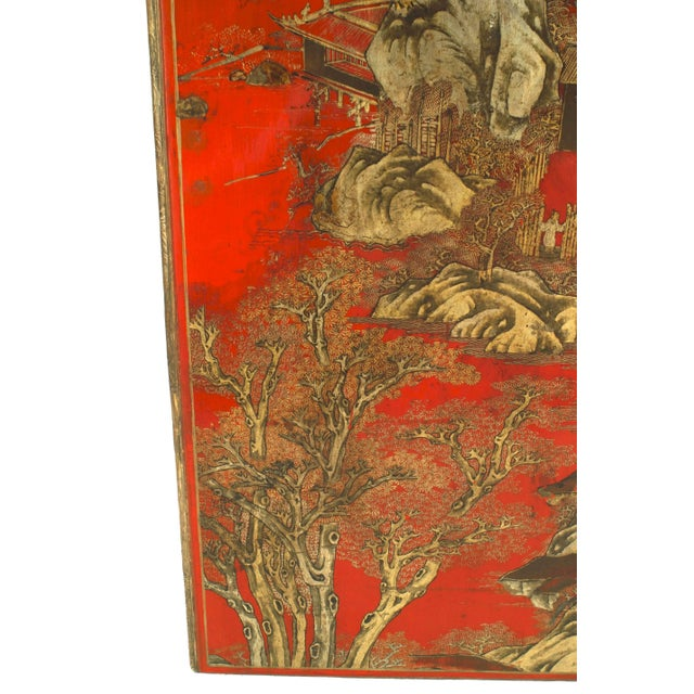 Louis XV Red Lacquered and Giltwood Coffee Table For Sale - Image 3 of 5