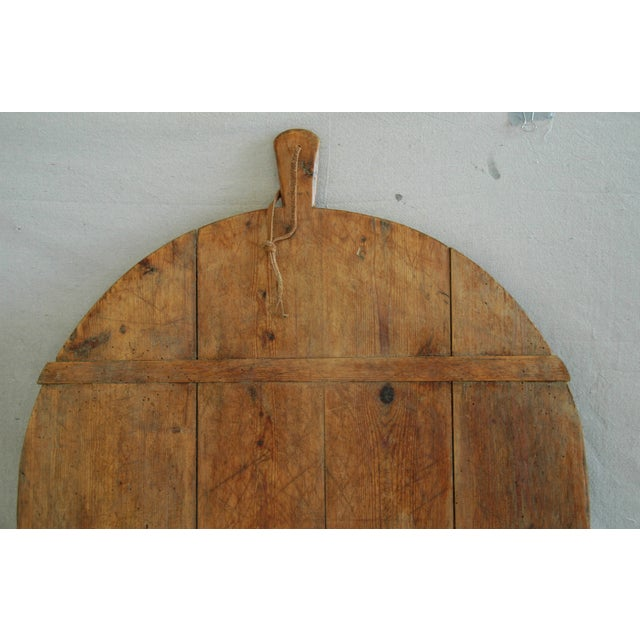 French 1920s Large French Harvest Bread Cheese Board For Sale - Image 3 of 6