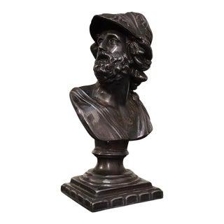1940s Vintage Grand Tour Style Roman Emperor Bust Sculpture For Sale