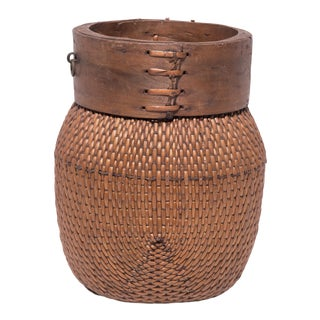 Chinese Rimmed Fisherman's Basket For Sale