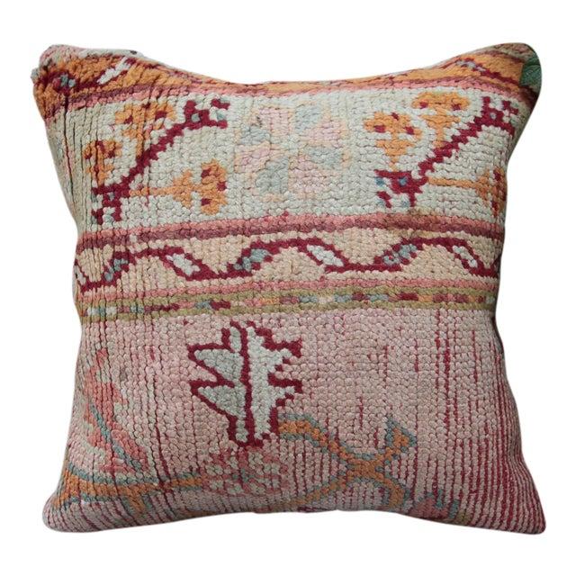 Vintage Turkish Oushak Pillow For Sale