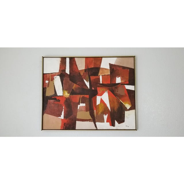Mid-Century Acrylic on Canvas Painting by Palilo. For Sale - Image 13 of 13