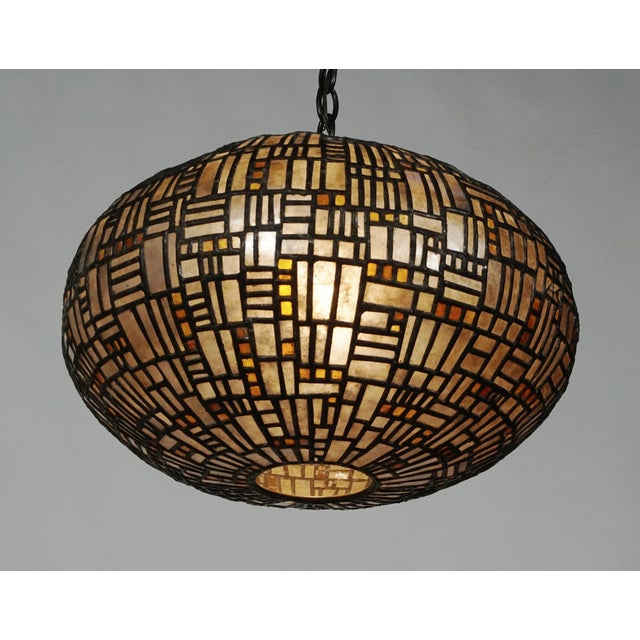 Leaded Mica Hanging Sculpture Light by Adam Kurtzman For Sale In San Francisco - Image 6 of 10