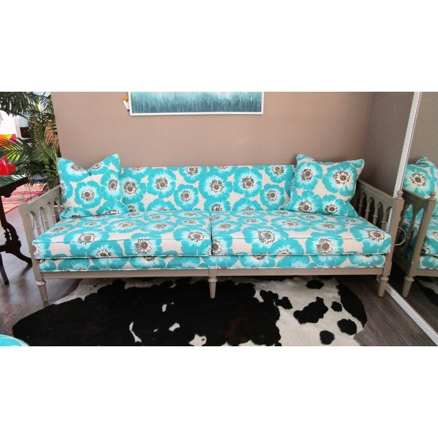 1990s Vintage Colorfully Upholstered Day Bed For Sale In West Palm - Image 6 of 6