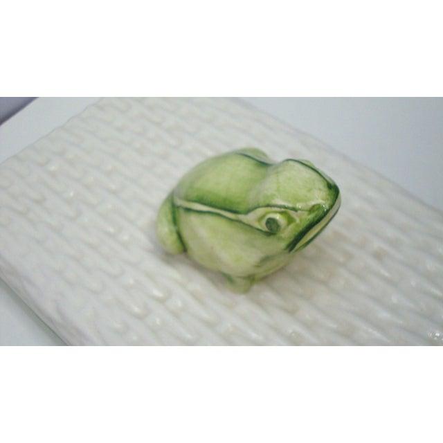 Italian Porcelain Ceramic Wicker Frog Box - Image 8 of 11