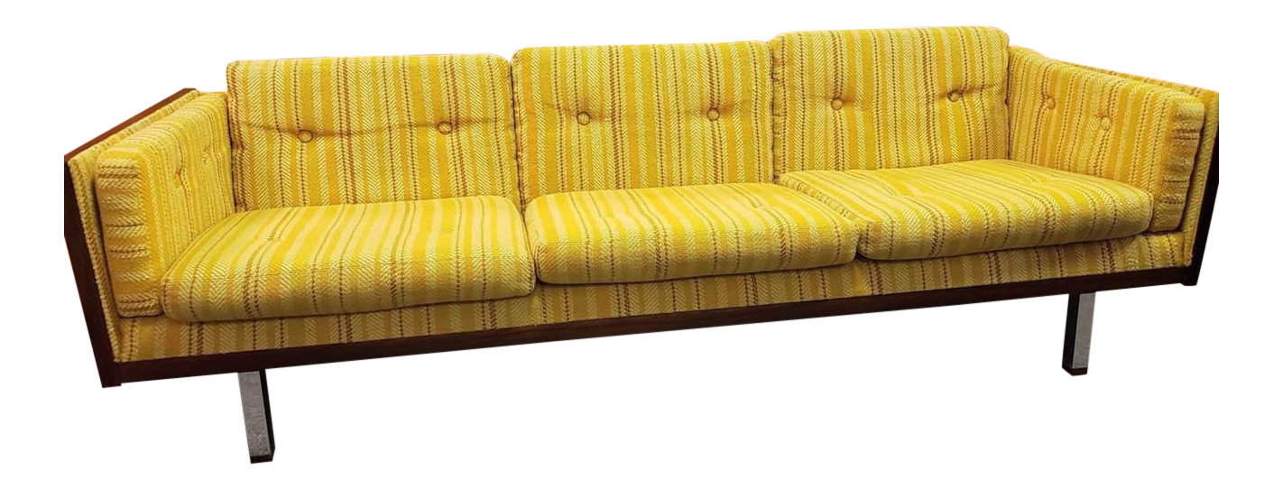 mid century modern danish jydsk mobelvaerk cased rosewood yellow rh chairish com yellow velvet sofa for sale yellow sofa pillows for sale