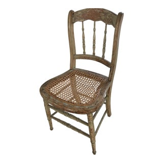 Victorian Caned Seat Dining Chair For Sale