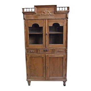 1900s Antique Indonesian Teak Cupboard For Sale