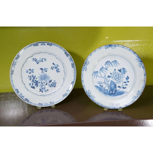 Ceramic Chinese Export Porcelain Plates For Sale - Image 7 of 10
