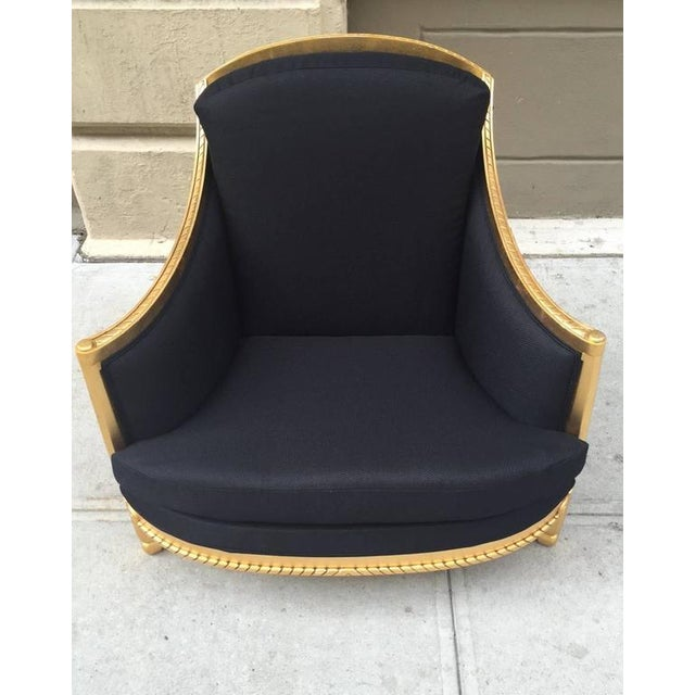 Italian Giltwood Sculptural Lounge Chair For Sale - Image 4 of 9