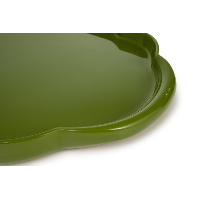 Contemporary Oval Tray in Green - John Derian for The Lacquer Company For Sale - Image 3 of 4