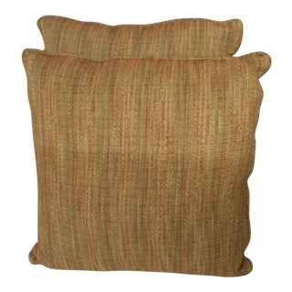 Burnt Toast Colored Pillows - A Pair For Sale