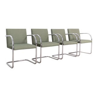 Mies Van Der Rohe Green Brno Chairs