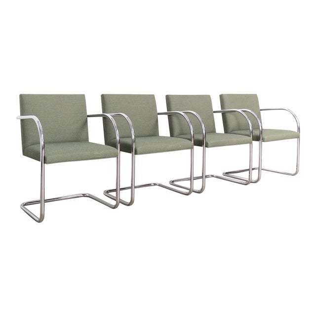 Mies Van Der Rohe Green Brno Chairs For Sale