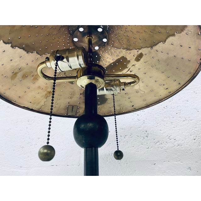 Metal Postmodern Brass Desk or Table Lamps - a Pair For Sale - Image 7 of 13