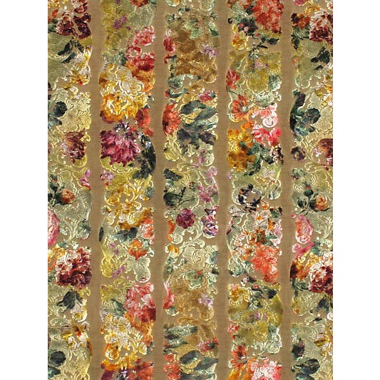 Scalamandre Jardin Colbert Jacquard, Tendril Green For Sale