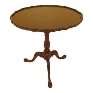 Baker Tilt Top Clawfoot Mahogany Tilt Top Table For Sale