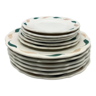1950s Vintage Syracuse China Plates - Set of 12 For Sale