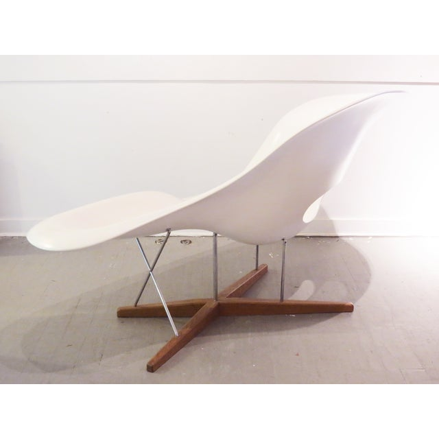 1990s Vintage Eames Vitra White La Chaise Chair For Sale - Image 5 of 10