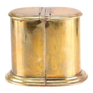 Heavy Brass Canister Bookends With Storage - a Pair For Sale