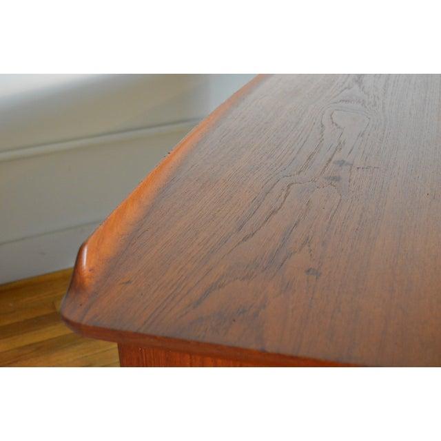 Wood Svend Madsen Model Sh 180 Danish Modern Teak Writing Desk For Sale - Image 7 of 10