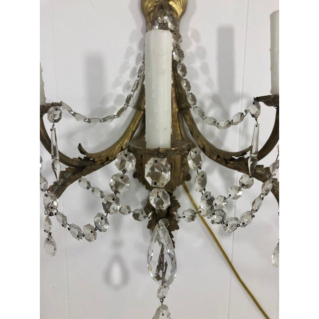 Louis XV Style Converted Gasolier Sconces a Pair For Sale - Image 9 of 13