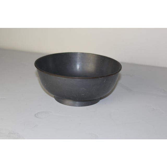 1940's Pewter Bowl For Sale - Image 4 of 5