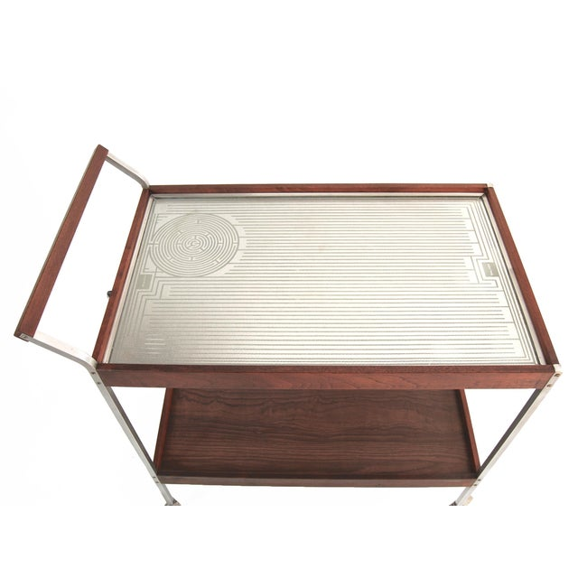 Salton Mid-Century Hot Plate Serving Cart For Sale - Image 5 of 6