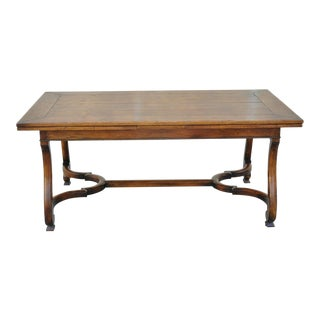 American Henredon Acquisitions Collections Orleans Draw Leaf Dining Room Table For Sale