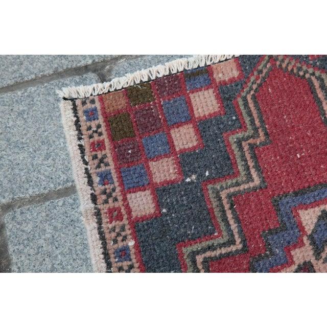 Turkish Nomadic Wool Carpet - 1′8″ × 2′10″ - Image 4 of 9