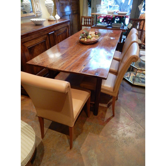 Brown 19th Century French Walnut Farm Table For Sale - Image 8 of 10