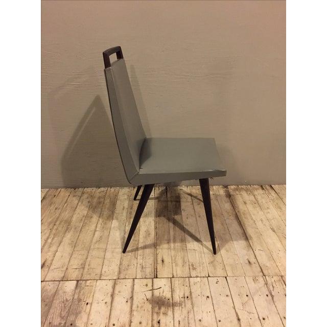 Vintage 1960s Mod Wood & Vinyl Chairs - 4 - Image 5 of 8